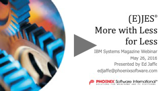 (E)JES System Management Software: More with Less for Less